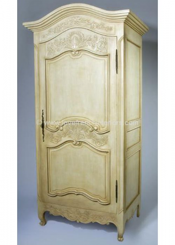 Louis Bespoke French One Door Armoire Wardrobe